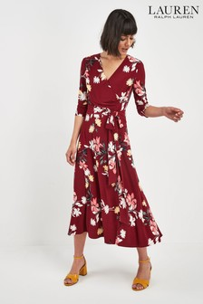 Lauren Ralph Lauren® Garnet Floral Print Wrap Dress