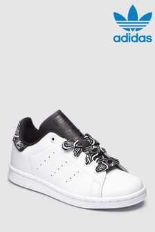 adidas Originals White Print Stan Smith Junior