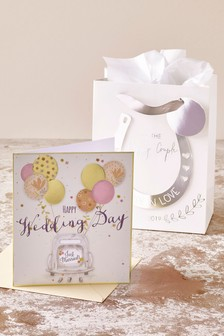 Wedding Card And Gift Bag Set