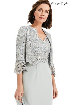 Phase Eight Duck Egg Ellise Lace Jacket