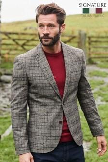 Grey Check Signature Nova Fides Italian Fabric Blazer