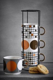 Set of 4 Spot Stacking Mugs