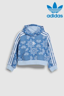 adidas Originals Little Kids Blue Printed Over Head Hoody