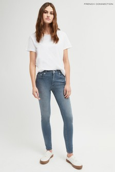 French Connection Blue And Grey R Rebound 30 Skinny Jeans