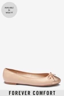 皮革芭蕾鞋