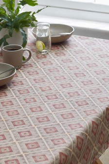 Wipe Clean Terracotta Tile Tablecloth