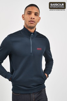 Barbour® International Navy Half Zip Track Top