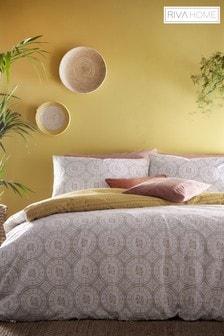 Riva Home Mandala Set mit Bett- und Kissenbezügen mit ethnischem Geodesign