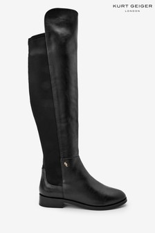 Kurt Geiger London Black Vera Over The Knee Boots