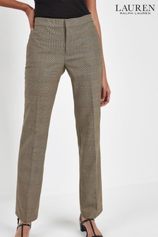 Lauren Ralph Lauren® Tan Check Straight Trousers