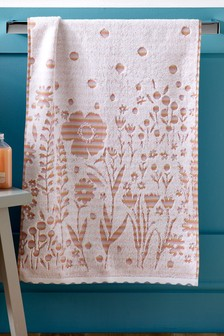 Multi Floral Stripe Towel