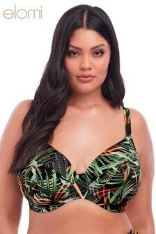 Elomi Khaki Amazonia Plunge Bikini Top