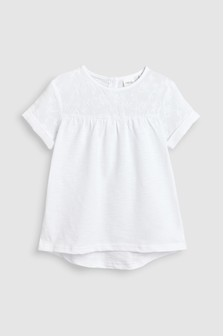 Short Sleeve Embroidered T-Shirt (3-16yrs)