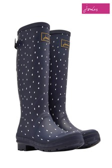 Joules Printed Welly With Back Gusset