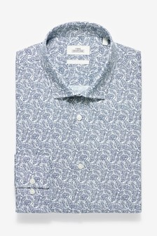Slim Fit Single Cuff Paisley Print Shirt