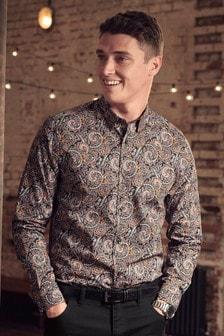 Langarmshirt mit Paisley-Muster
