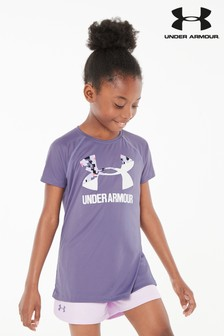 Under Armour Purple Logo Tee