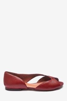 Кожаные асимметричные туфли с открытым носком Signature Forever Comfort