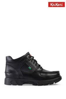 Kickers® Black Lennon Mid Leather Boots