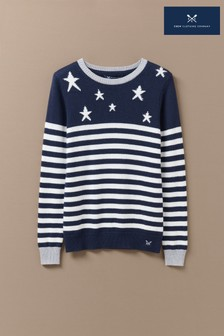 Crew Clothing Blue Star Stripe Jumper