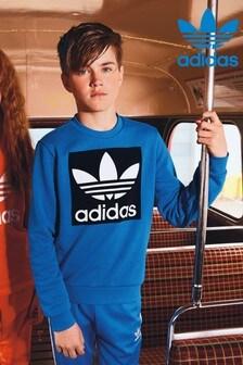 adidas Originals Blue Trefoil Crew