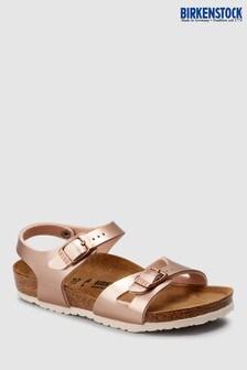 Birkenstock® Kids' Metallic Copper Rio Sandal