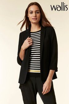 Wallis Black Turn Back Cuff Jacket
