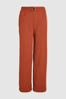 Textured Jersey Wide Leg Trousers