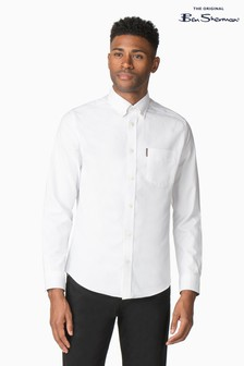 Ben Sherman White Plain Oxford Shirt