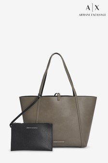 Armani Exchange Nude Reversible Shopper Bag