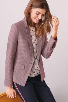 Textured Slim Suit Jacket