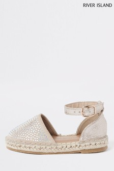 River Island Embelished Closed Toe Espadrille