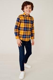חולצה משבצות עם שרוול ארוך (גילאי 3 עד 16)