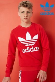 adidas Originals Red Trefoil Crew Top