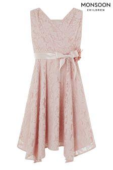 Monsoon Pink Louisa Lace Dress