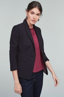 Pin Dot Single Breasted Jacket