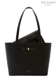 Ted Baker Black Bow Shopper Bag