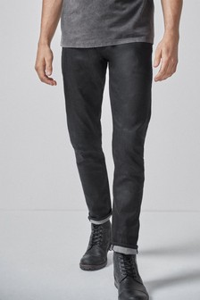 Coated Jeans With Stretch