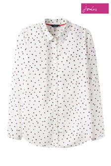Joules Cream Elvina Long Sleeve Soft Shirt