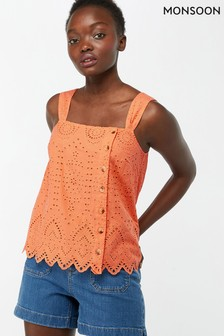 Monsoon Ladies Orange Zennon Shiffly Cami