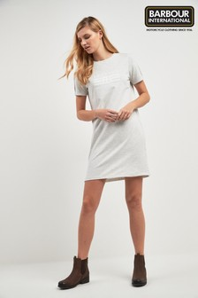 Barbour® International Grey Marl Morzine Logo T-Shirt Dress