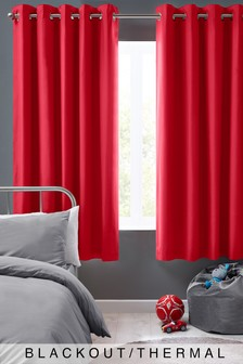 Micro-Fresh Plain Dye Eyelet Lined Curtains