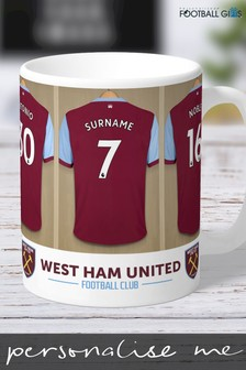 Personalised West Ham United Dressing Room Mug by Personalised Football Gifts