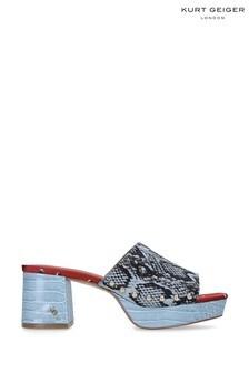 Kurt Geiger London Beatriz Blue Block Heels