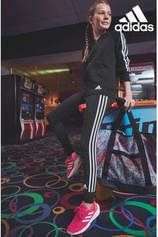adidas Black 3 Stripe Joggers