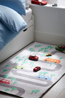Tapis imprimé carte routière