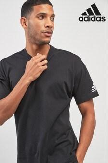 adidas Plain Black Logo Tee