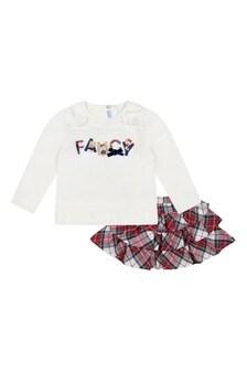 Baby Girls Tartan Skirt Set