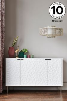 Mode White Textured Sideboard