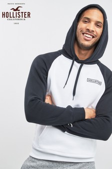 Hollister Navy Colourblock Hoody